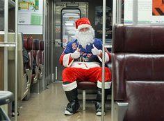 Santa rides the Long Island Rail Road wearing a New York Rangers hockey jersey                                                                                                        Loading...                                                                    19               of               28                                                                                                                    Santa rides the Long Island Rail Road wearing a New York Rangers hockey jersey