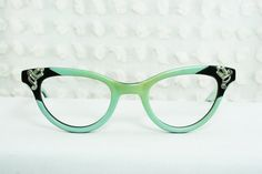 50s Cat Eye Glasses 1960's Rhinestone Eyeglasses by THAYEReyewear