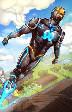 """- The Legend of Wale Williams Part One by Roye Okupe """"The year is with the plot set in a fictional Nigerian location named Lagoon City, modeled after the real. Superhero Stories, Superhero Characters, Robot Concept Art, Weapon Concept Art, Comic Character, Character Concept, Comic Book Guy, Black Comics, Hero Costumes"""