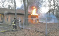 House fire caused by heat lamp for dog. Backyard Coop, Volunteer Fire Department, Chicken Coops, Lamps, Dog, House, Lightbulbs, Diy Dog, Home