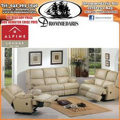 This Alpine Lounge Suite offers you style and comfort at the same time. Visit us at Drommedaris and have a look at our range of Alpine Furniture. Alpine Furniture, Lounge Suites, Home Improvement, Your Style, Range, Couch, Lifestyle, Home Decor, Cookers