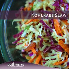 Kohlrabi Slaw, for a summer BBQ maybe? #Vegan #Vegetarian
