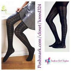 FREE PEOPLE Tights Textured Stretchy Knit  Legging One Size.  New with tags. $28 Retail + Tax.   Textured pointelle knit tights with elastic waistband.  Soft and stretchy.  Black color.  Acrylic, polyamide, wool, spandex.    ❗️ Please - no trades, PP, holds, or Modeling.    Bundle 2+ items for a 20% discount!    Stop by my closet for even more items from this brand!  ✔️ PRICE IS FIRM. No offers please. Free People Accessories Hosiery & Socks