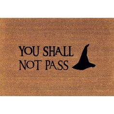 You Shall Not Pass Gandalf Lord of the Rings Tolkien Door Mat Coir... ($39) ❤ liked on Polyvore featuring home, rugs, brown, floor & rugs, home & living, coir mat, coir fiber doormat, coconut fiber door mats, coir outdoor mats and brown rug