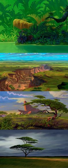 Background Art from The Lion King (1994)