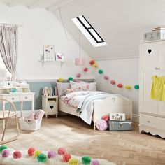 Need some inspiration for your child's room? Head to John Lewis for colourful patterned decorations, bedding and sturdy furniture