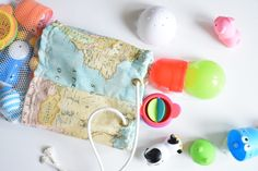 DIY bolsa para baño impermeable