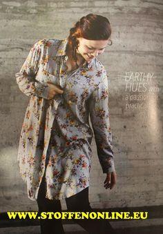 Ottobre women herfst/winter 2014 blouse nr. 18 viscoseblousestof  Girona van Hilcostoffe