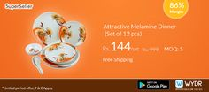 Melamine Dinner Set Just @ 144 with Freeshipping on #WYDR