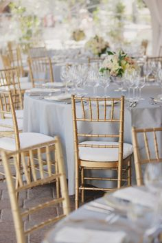 Gold Chivari Chairs | photography by http://thismodernromance.com