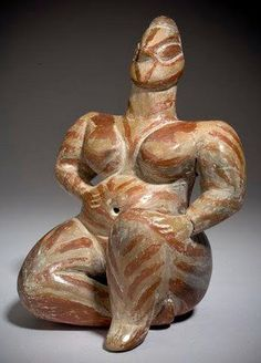 Anatolia Goddess : Neolithic Anatolia ca 5500 BCE .Published January 2016 at 236 × 328 in Ancient Mythology and Current Reality Part One Earth Goddess, Goddess Art, 7 Arts, Ancient Goddesses, Art Premier, Art Sculpture, Mother Goddess, Prehistory, Ancient Aliens