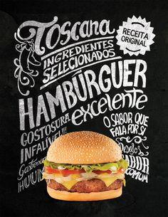 hamburger typography chalkboard