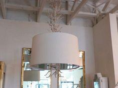 Metal Faux Coral Light Fixture