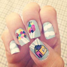 Disney/Pixar Up nails