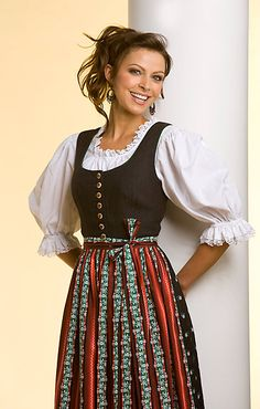 This dirndl caught my eye. I love the apron! Very neat and different!