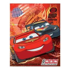"""Cars 2 Racing Legend Lightweight Fleece Throw Blanket by Disney. $13.74. Disney Cars 2 New 2013 Fleece Blanket for Children (Racing Legend). Machine washable for easy care. Measures 46"""" X 60"""". 100% Polyester. Soft, Warm and Comfortable. This Cars 2 """"Racing Legend"""" is colorful, warm and comfortable.  The large full color logo and the decorative side stitching make this a great looking blanket that is a must-have for any child. The light weight fleece traps warmth a..."""
