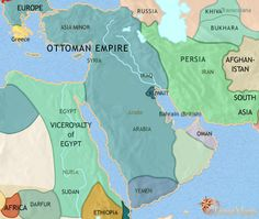 history map of Middle East  1871AD