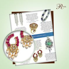 As featured in #Verve magazine's August '14 issue, this pair of #jadau earrings from our #MeAndMyRose collection will take you into the regal past, with its nuances from Indian royalty. #RoseInTheNews @verveindia