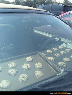 Aprovechando la ola de calor para hacer unas galletitas.