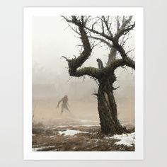 old apple tree Canvas Print by Jakub Rozalski - MEDIUM Werewolf Art, Tree Canvas, Canvas Prints, Art Prints, Apple Tree, Print Artist, Tree Art, Folded Cards, Buy Frames