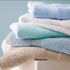 Fluffy clean towels