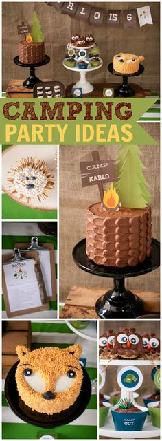 So many great ideas at this camping birthday party! See more party ideas at CatchMyParty.com!