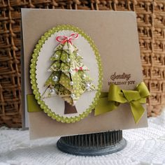 Runs with Scraps...: Cheery Lynn Designs Origami Tree Tutorial and Gold Foil Notecard