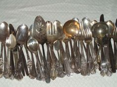 silverplated silverware to make jewelry from. Interesting info.