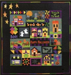 This is also a project I will be starting in January. It's a Halloween block of the month put out by Peal Louise Designs called Booville. Cute huh?