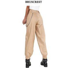 20e781de18fa8 High waist pants black camouflage loose joggers women army camo harem pants  punk cargo pants capris for women trousers 2018