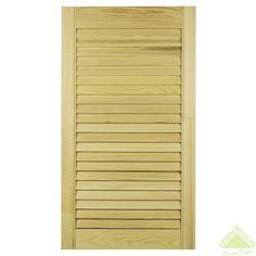 Дверка жалюзийная, 1995х494 мм, хвоя, сорт А, Двери жалюзийные - Каталог Леруа Мерлен