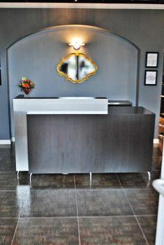 Vicki Popp@Berkeley Heights, NJ - by Salon Interiors, Inc. Custom Reception Desk