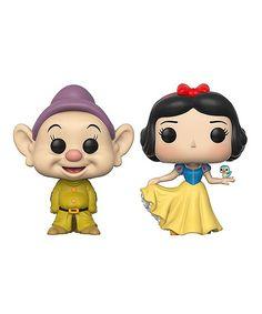Funko Snow White Dopey & Snow White Pop! Figurine Set | zulily
