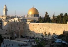The Wailing Wall (Kotel in Hebrew) with a view of the Dome of the Rock-and Wailing Wall: Jerusalem, Israel.