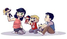 Awwwww it's Emma, Hugo and Louis!