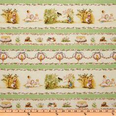 Tasha Tudor fabric. So sweet!