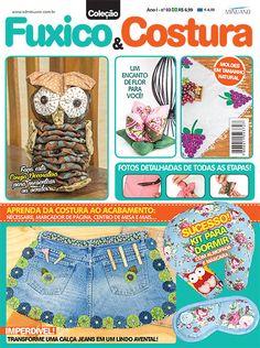 Artesanato - Tecidos : COL FUXICO & COSTURA 003 - Editora Minuano