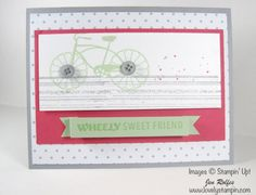 Cycle Celebration Card by lovelystampin.com - Cards and Paper Crafts at Splitcoaststampers