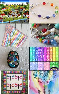 Rainbow Village by Rhian on Etsy--Pinned with TreasuryPin.com