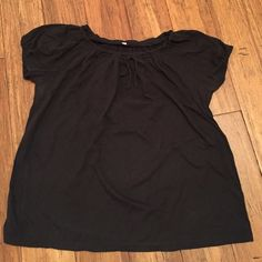 JCrew summer top Super soft JCrew top with drawstring neckline. Nice loose bottom to flatter every figure. Other
