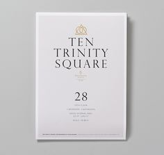 Ten Trinity Square floor plan with gold foil detail designed by Pentagram