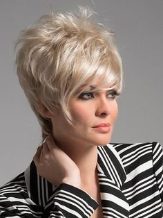 Shari | Synthetic Wig (Traditional Cap) Short Pixie Haircuts, Short Hairstyles For Women, Bob Hairstyles, Short Hair Cuts, Short Hair Styles, Pretty Hairstyles, Best Wig Outlet, Short Wigs, Womens Wigs