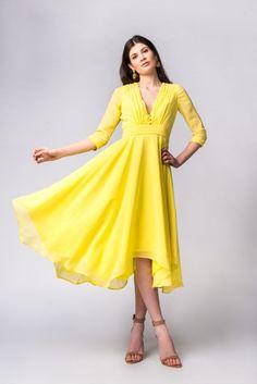 08c5f31b9077 Lemon drop hem chiffon dress - Claire Mischevani Coat Dress, Chiffon Dress,  Claire,