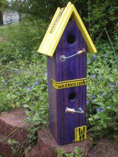 Purple birdhouse!
