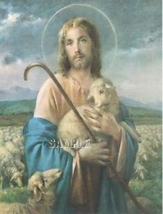Vintage Jesus Christ Lord Shepherd Lamb Christian Religious Canvas Art Print   eBay