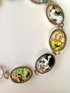 Tintin and Snowy bracelet. $25,00, via Etsy.