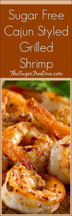 Sugar Free Cajun Styled Grilled Shrimp