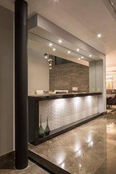 Modern home bar design ideas Bar Interior Design, Interior Design Living Room, Interior Decorating, Modern Home Bar, Modern Kitchen Design, Bar Furniture For Sale, Furniture Ideas, Home Bar Counter, Home Bar Decor