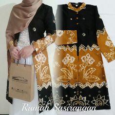 Outer Batik, Batik Fashion, Batik Dress, Kebaya, Sewing, Floral, Skirts, Dresses, Vestidos