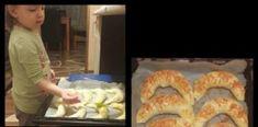 Friss, meleg sajtos kifli! A család apraja – nagyja szereti! Bagel, Shrimp, Sausage, Bread, Food, Sausages, Brot, Essen, Baking